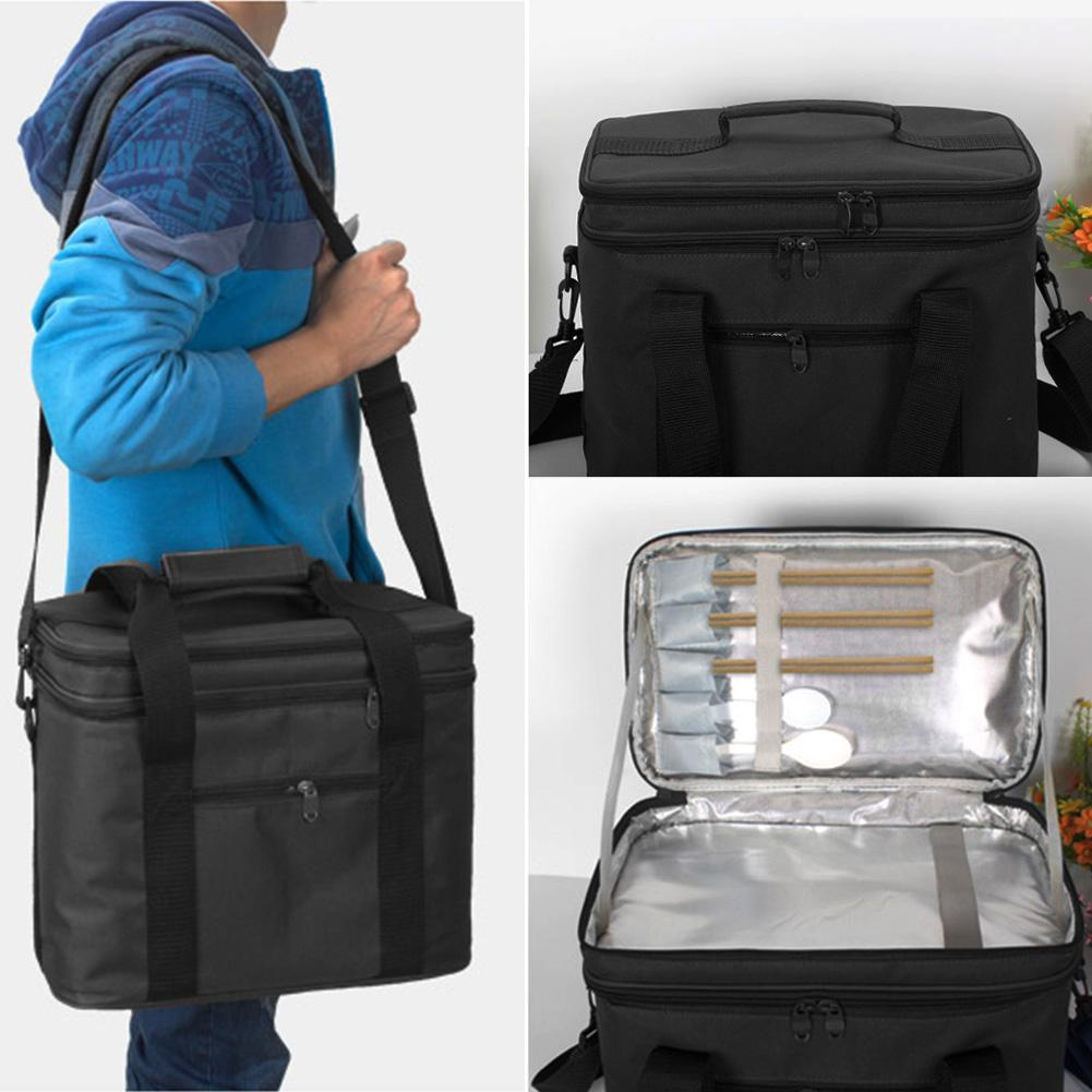 Picnic Cooler Lunch Bags Foldable Thermal Aluminum Foil Large Ice Pack Box Bag Insulated Car Beach Barbecues Camping Lunch Bags