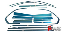 For BMW X5 E70 2009 2010 2011 2012 2013 Stainless Exterior Window Sill Lid Trim + Centra Pillar Trims Accessaories 20pcs