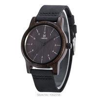 Top Luxury 100 Genuine Leather Analog Zebra Sandal Wood Watch MIYOTA Quartz Movement Wooden Watch For