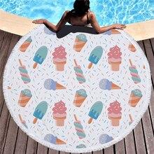 Мороженое, большой пляж Полотенца микрофибры с Ленточки для взрослых Ванна Полотенца для детей купальники толщиной Одеяло Йога коврик