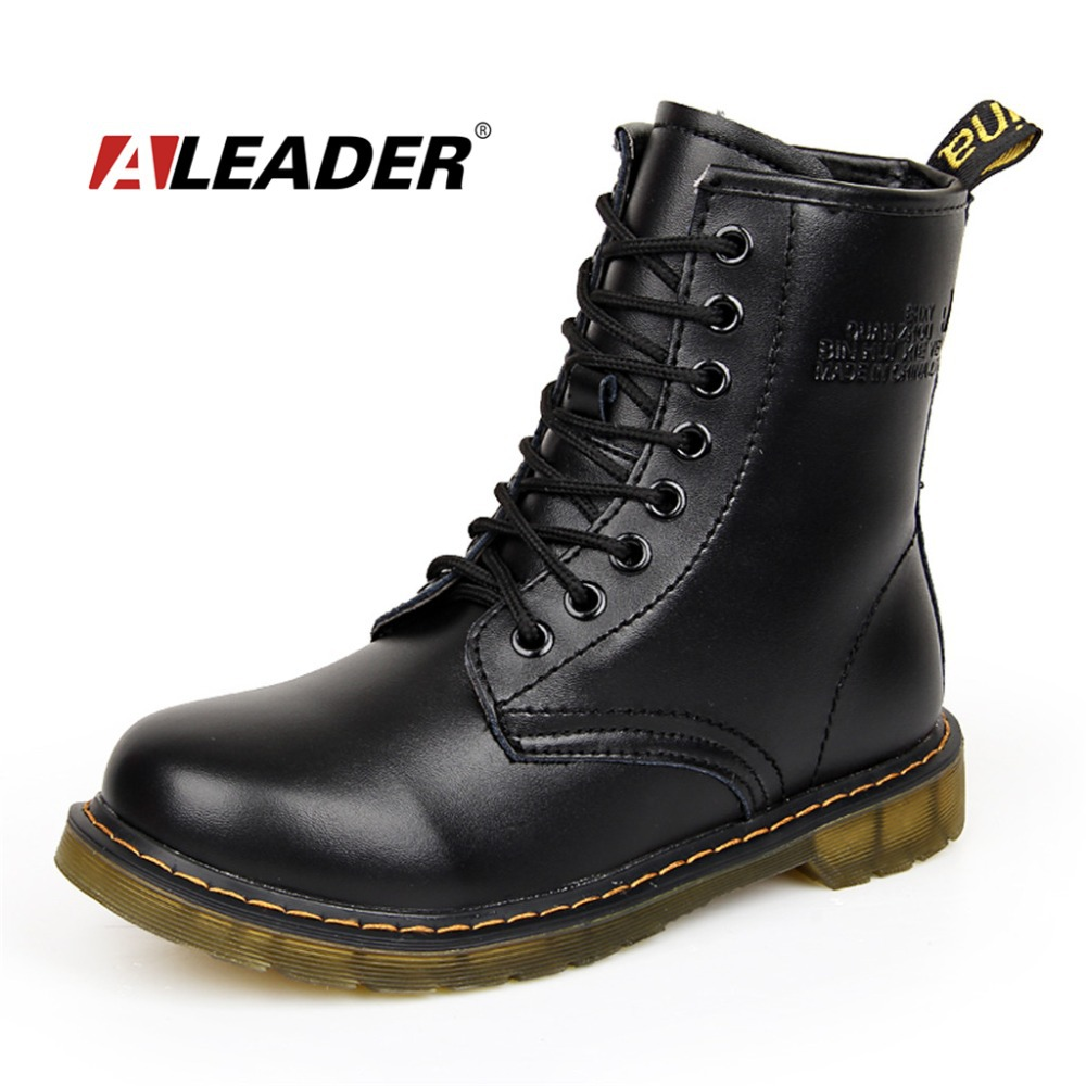 buy womens autumn leather ankle drboots. Black Bedroom Furniture Sets. Home Design Ideas