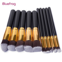 BLUEFRAG 10 Pcs Makeup Brushes Superior Professional Soft Cosmetics Make Up Brush Set Kabuki Brush kit Makeup Brushes Wholesale