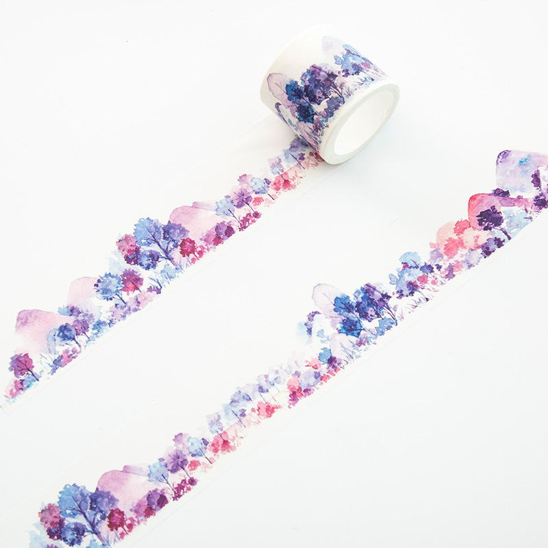 4cm*7m Mountain Forest Of Dreams Washi Tape Adhesive Tape DIY Scrapbooking Sticker Label Masking Tape