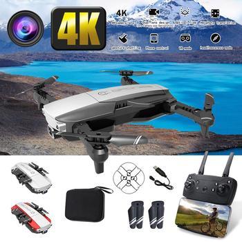 Mejor Precio 16MP 4K HD Cámara WiFi FPV RC Drone plegable flujo óptico quadcóptero que mantiene altitud 6-axis gyro rc dron helicóptero