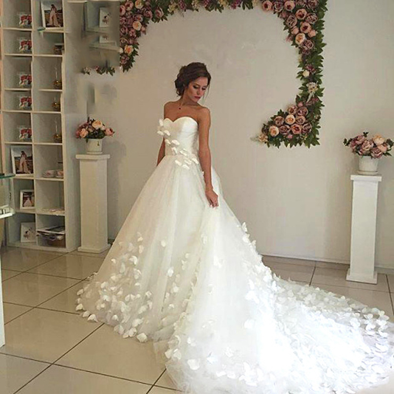 Ultra White Flower Wedding Dress Long Train Fl Bridal Formal Gowns Dream Gown Prettiest In Dresses From