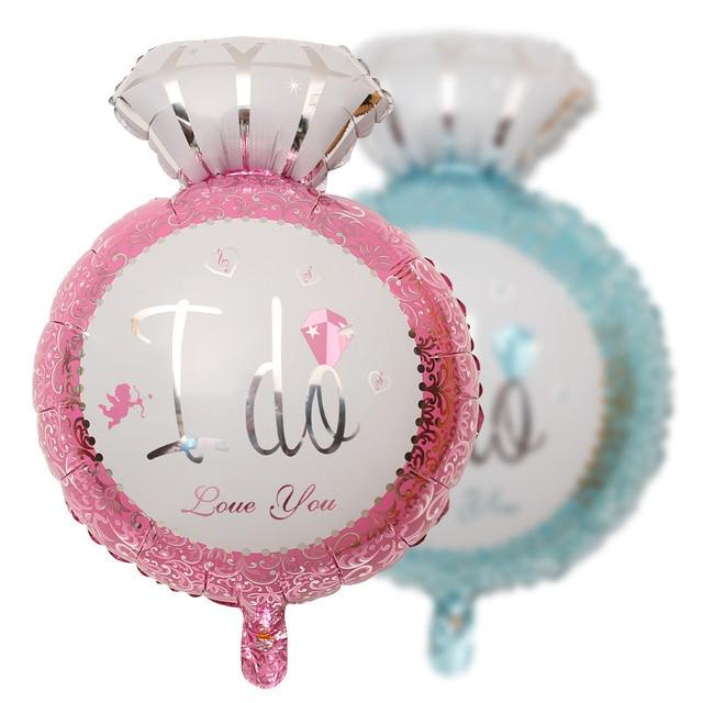 1pc diamond ring shape balloon 18 wedding balloons i do wedding 1pc diamond ring shape balloon 18 wedding balloons i do wedding favours supplies birthday party junglespirit Images