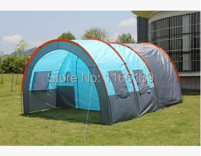 Upgrade 12 Person Outdoor Shade Multiplayer Team Tunnel Camping big Tent Double Layer Large Tents 480*310*210cm Free shipping