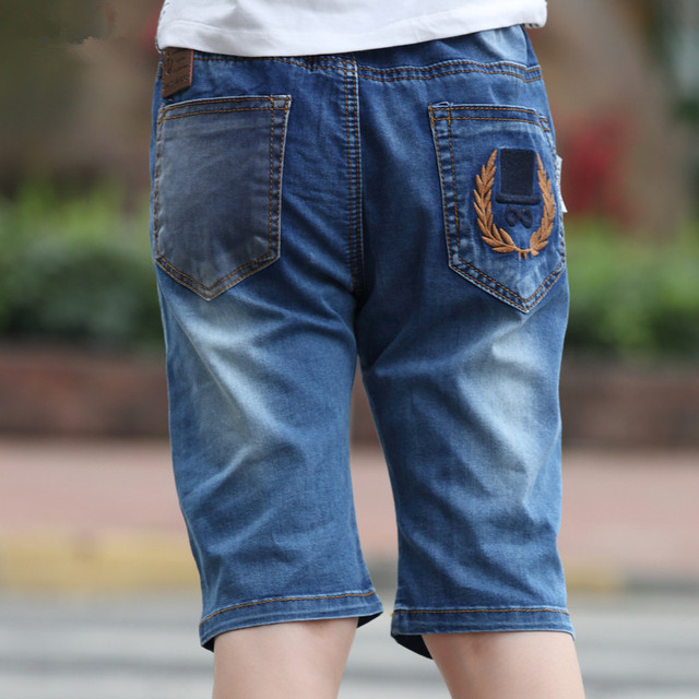 Fashion Boys Jeans 1/2 Length Boys Pants Trousers Comfortable 2017 Summer Kids Clothes For 2 3 4 6 8 Year Old AKP164008