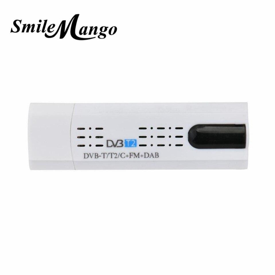 SmileMango USB 2.0 DVB-T2/T DVB-C TV Tuner clé USB Dongle pour PC ordinateur portable pour Windows 7 8 Windows 7/8 pour Windows Vista