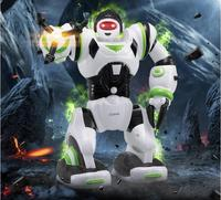 27106 mini version Multi-function acousto-optic smart robot Analog sound cool light arms swing Cartoon characters