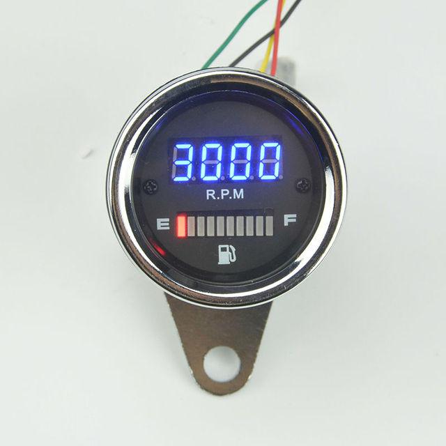 Motocicleta tacômetro eletrônico modificado indutância instrumento Motocicleta tacômetro rpm Medidor de nível de Combustível do carro frete grátis