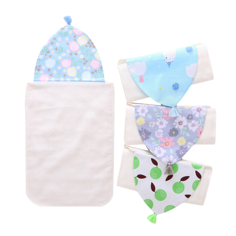 Sweat Towels Sign: Double Sided Cotton Sweat Absorbent Towel Baby Sweat Towel
