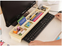 Simple wooden office computer desktop keyboard storage Simple Organizers Box storage Box Shelf wooden storage Rack