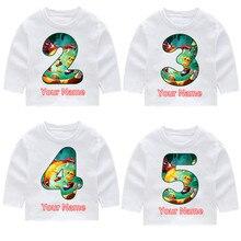 Rayman Legends Kid's Print Fashion Cotton Birthday Number Long Sleeve T-shirts Kid's Long Sleeve Tops Baby Girl Harajuku Clothes ubisoft rayman legends classics