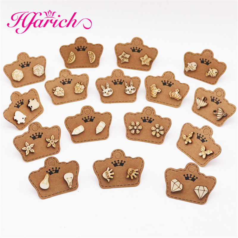 8e83898d8fde5 Detail Feedback Questions about Hfarich Mix Wood Earrings Stud Cute ...