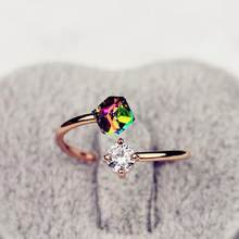 2017 New Brand Design Fashion Elegant Charm Austrian Crystal Infinite Wedding Ring Valentine's Day Gift(China)