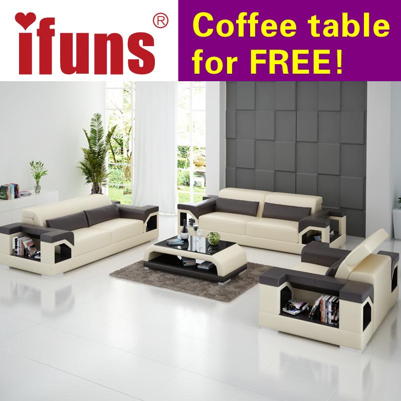 Ifuns Große Größe 1 2 3 Schnitts Sofas Direkte Fabrik, Modernes Design Top  Kornqualität Leder Wohnzimmer Zimmer Möbel Für Haus