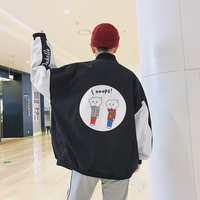 Spring Even Hat Casual BF Wind Loose Coat Male New Product Leisure Time Cartoon Denim Jacket