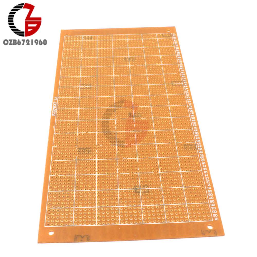 10x22 cm bricolage universel bakélite plaque papier Prototype PCB platine de prototypage expérience matrice panneau simple face feuille de cuivre