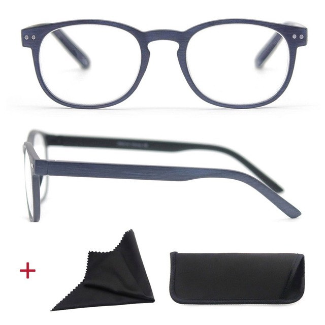 Round Reading Glasses for Men Women Unisex magnifier Eyeglasses Vintage Glasses with Spring hinge diopters +1+1.5+2+2.5+3+3.5