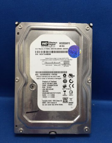 WD3202ABYS 320 GB Internal Hard Drive HDD 7200RPM 3.5 WD3202ABYS-01B7A0 Original 95%New Well Tested Working One Year Warranty
