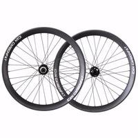 ICAN 26er fibra de carbono Fat Bike Wheelset Shiman 10/11 velocidades Freehub 135x15mm frente 197x12mm trasero envío rápido de EE. UU. Rueda de bicicleta     -