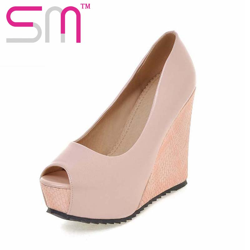 New Arrival Women s Pumps Sexy Peep Toe Woman s Shoes Shallow Wedges High Heels Shoes