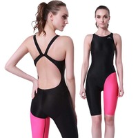 SBART Free shipping Ladies Professional Edition conjoined sports sexy backless imitation shark skin swimsuit female