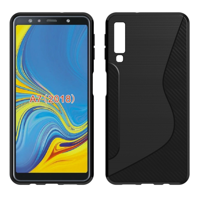 separation shoes b62e3 a0fb9 US $1.99 |For Samsung Galaxy A7 2018 Soft Case S Line Carbon Fiber Drawing  Silicone Flexible TPU Cover for Samsung Galaxy A7 (2018) A750F-in Fitted ...