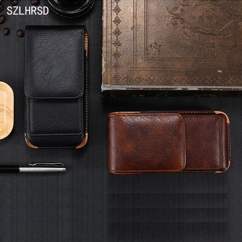 SZLHRSD for Blackview BV8000 Pro Men's Waist Bag Outdoor Protective Case can be rotated for Oukitel K3 Vernee Mix 2 Elephone U