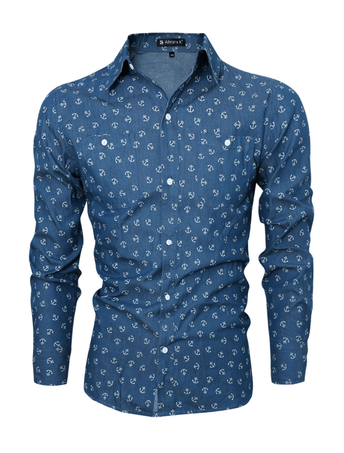 Popular Anchor Button up Shirt-Buy Cheap Anchor Button up Shirt ...