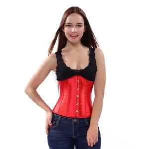 Image 5 - Sapubonva sexy solidna gorset underbust paski czarny różowy fioletowy gorset plus rozmiar dla nowożeńców, gorsety, i, gorsety, bez rękawów top