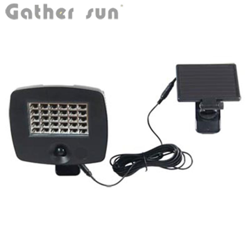 Solar PIR Motion Light Outdoor 30 LED Bulbs ABS Black Body Light Solar Power Source PIR Sensor Security Lamp For Garge Lighting
