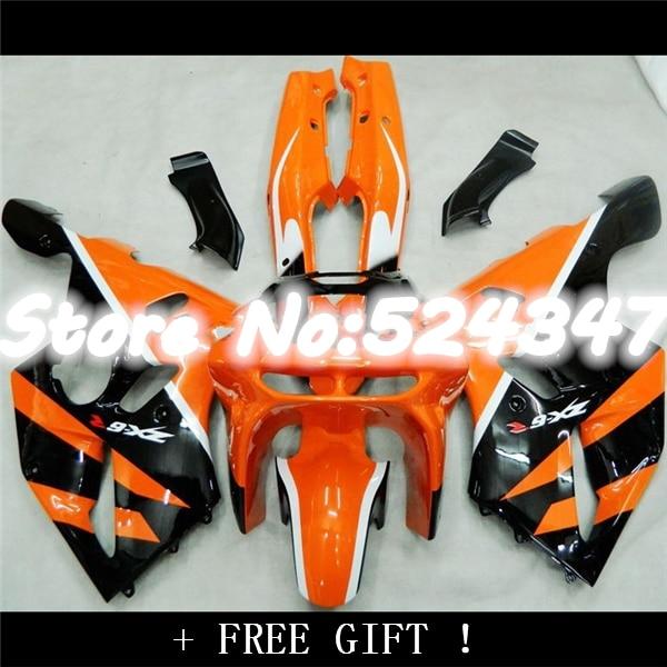HH94 97 orange BLK white For KAWASAKI NINJA ZX-6R 94-97 ZX6R ZX 6R 94 95 96 97 ABS Fairings ZX 6R 1994 1995 1996 1997 fairin-Nn