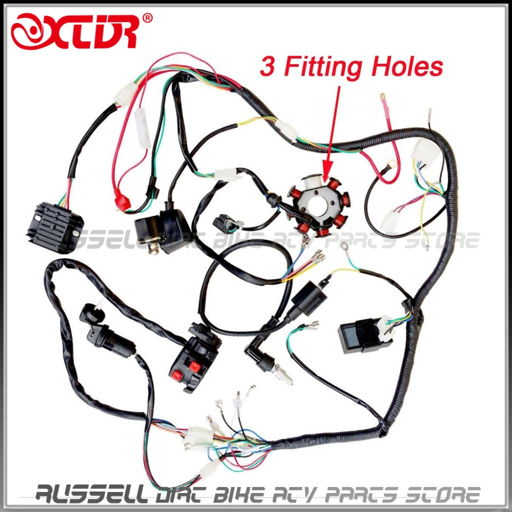 250cc 200cc ATV QUAD FULL ELECTRICS CDI Magneto Ignition Coil Rectifier WIRE  Harness Wiring-in ATV Parts & Accessories from Automobiles & Motorcycles on  ...