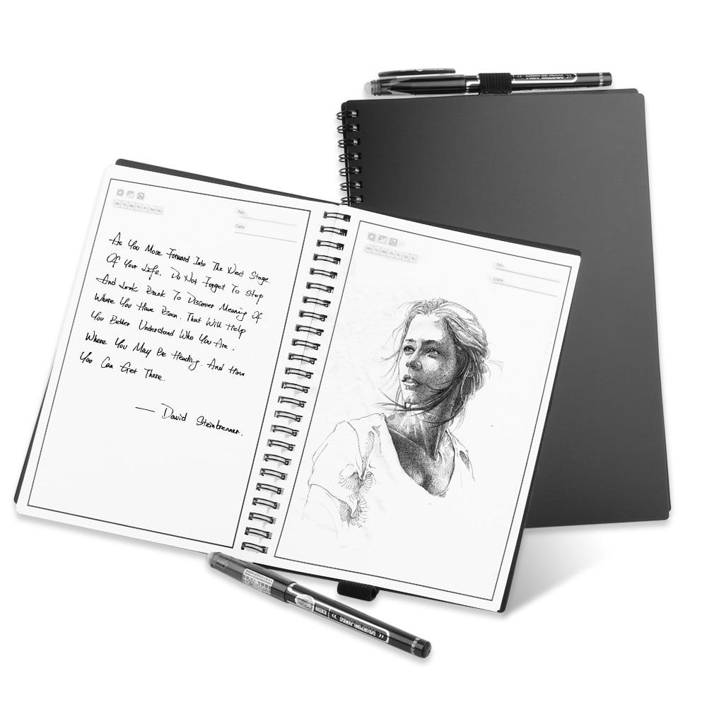 Smart Reusable Erasable Notebook A5 B5 Paper Wirebound Notebook Cloud Flash Storage For School Office Supplies App Connection