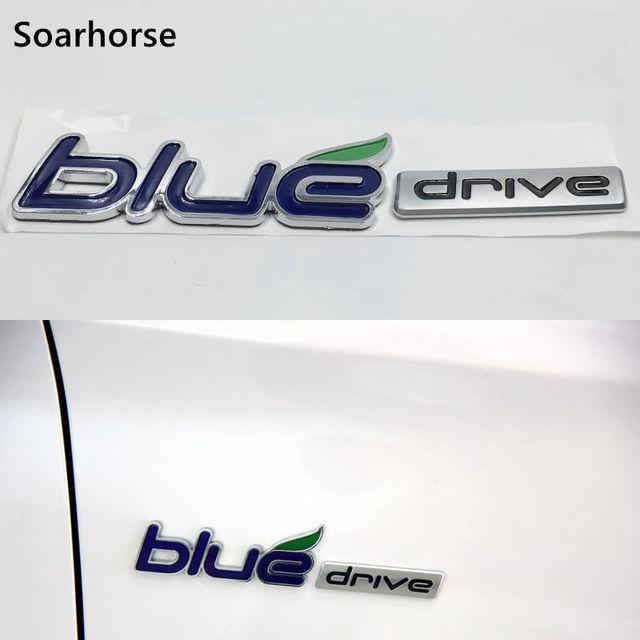 Auto Styling Abs Blue Drive Rear Side Decal Emblem Badge Sticker For Hyundai Sonata Hybrid Yf