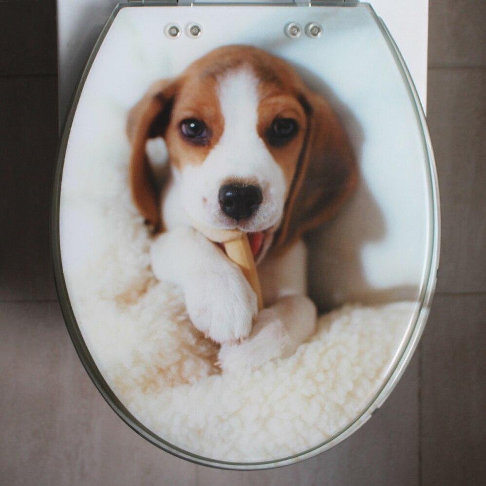 48*38CM High-grade Lovely dog pattern Resin toilet seat cover ...