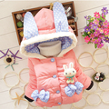 New Baby Girls Jacket Cartoon Rabbit Winter Girls Coat Children Cotton Hooded Keeping Warm Outwear Clothes Kids Clothing
