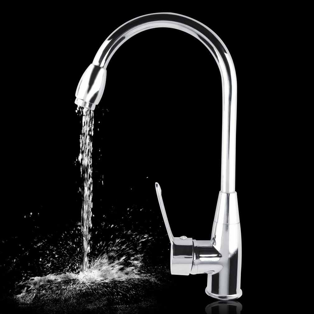 1 Set Alloy Chromed Hot/Cold Mixer Water Tap Basin Kitchen Bathroom Wash Faucet P15