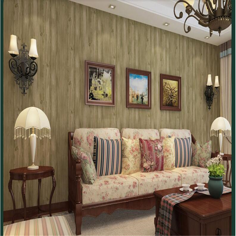 beibehang Chinese Wallpaper Vertical Stripes Non - woven Cloth Vintage Wood Grain Study Bedroom Bedroom Living Room Background junran america style vintage nostalgic wood grain photo pictures wallpaper in special words digit wallpaper for living room