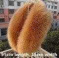 El otoño y el invierno de las mujeres de imitación de piel de zorro cuello de piel de mapache térmica silenciador casquillo de la bufanda espesar cálido bufanda de la piel