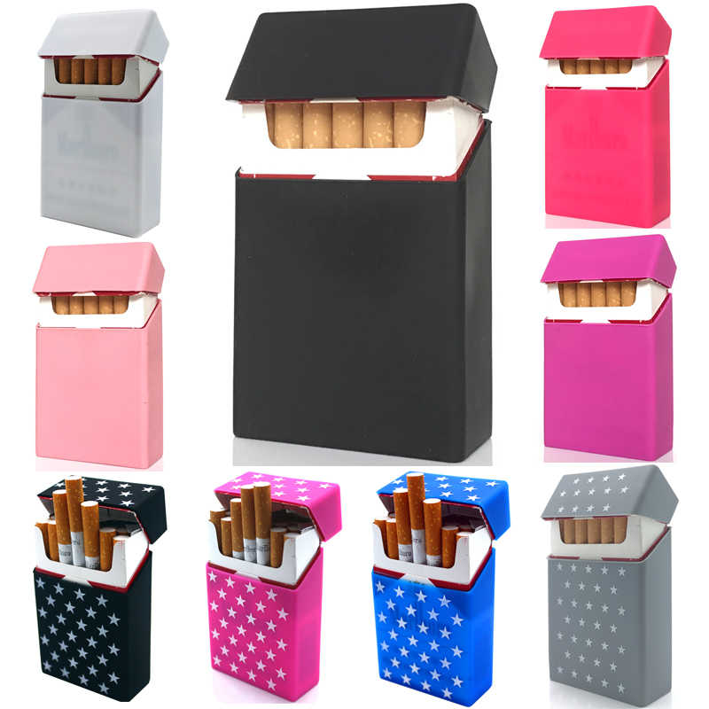 New Solid Colour Stars ,Personality Silicone Cigarette Case Fashion Cover Elastic Rubber Portable Man/Women Cigarette Box Sleeve