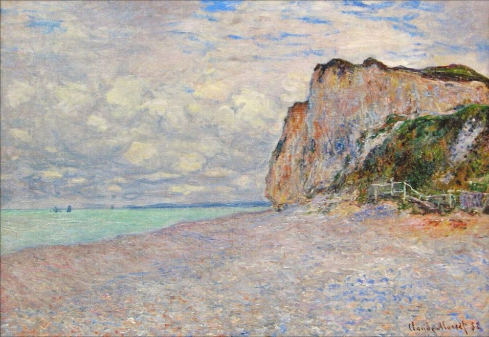 High quality Oil painting Canvas Reproductions Cliffs near Dieppe (1882)  by Claude Monet hand paintedHigh quality Oil painting Canvas Reproductions Cliffs near Dieppe (1882)  by Claude Monet hand painted