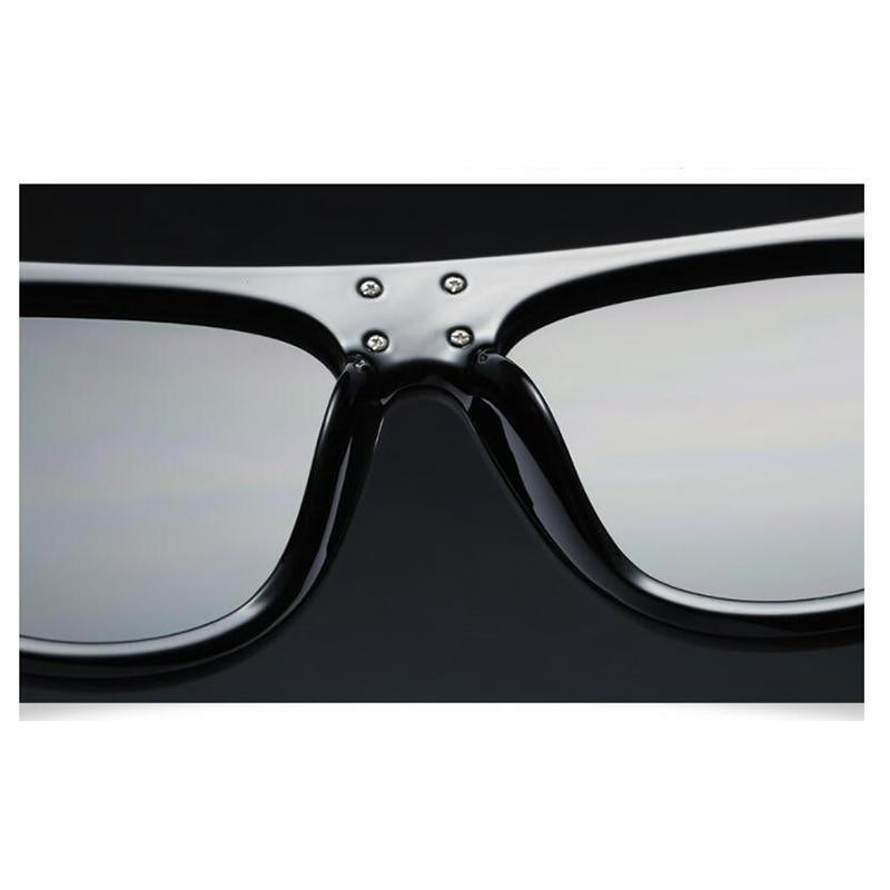 LEONLION New Flat Top Sun Glasses Oversized Goggles Mens Square Sunglasses Women Fashion Famous Brand Rivet Black Eyewear Gafas in Women 39 s Sunglasses from Apparel Accessories
