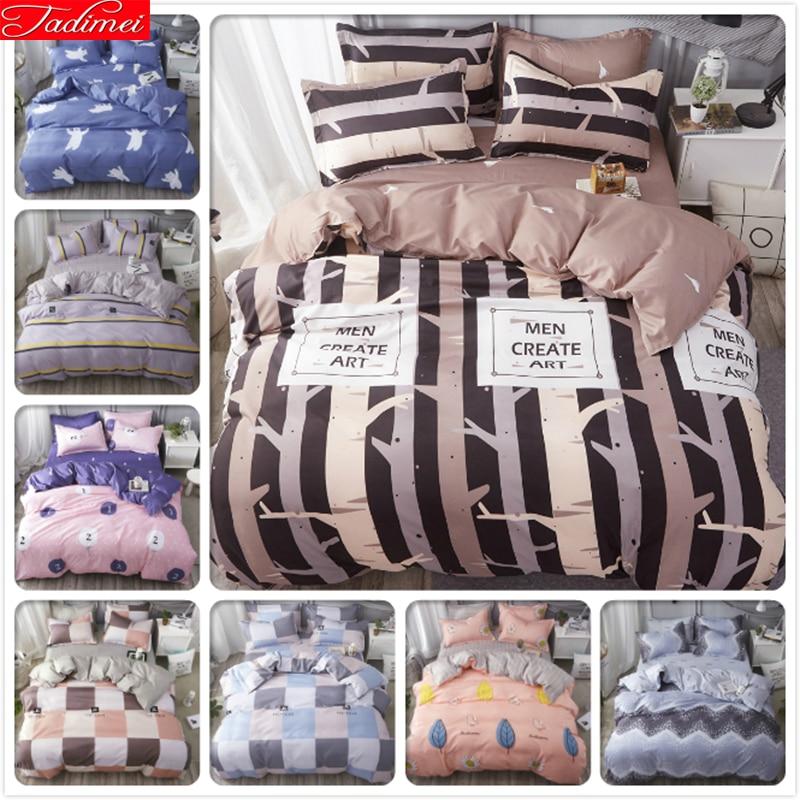 Power Source Rapture Creative Stripe Bedding Set 3pcs/4pcs Kids Child Student Bed Linen Soft Cotton Bedlinens Single Twin Queen King Size Duvet Cover