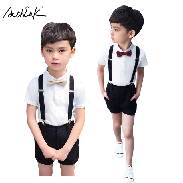 ActhInK Boys Summer 4Pcs Wedding Suit with Bowtie Kids Formal ...