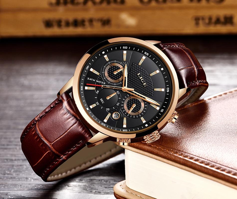 HTB11q2IVmzqK1RjSZFHq6z3CpXak LIGE 2019 New Watch Men Fashion Sport Quartz Clock Mens Watches Brand Luxury Leather Business Waterproof Watch Relogio Masculino