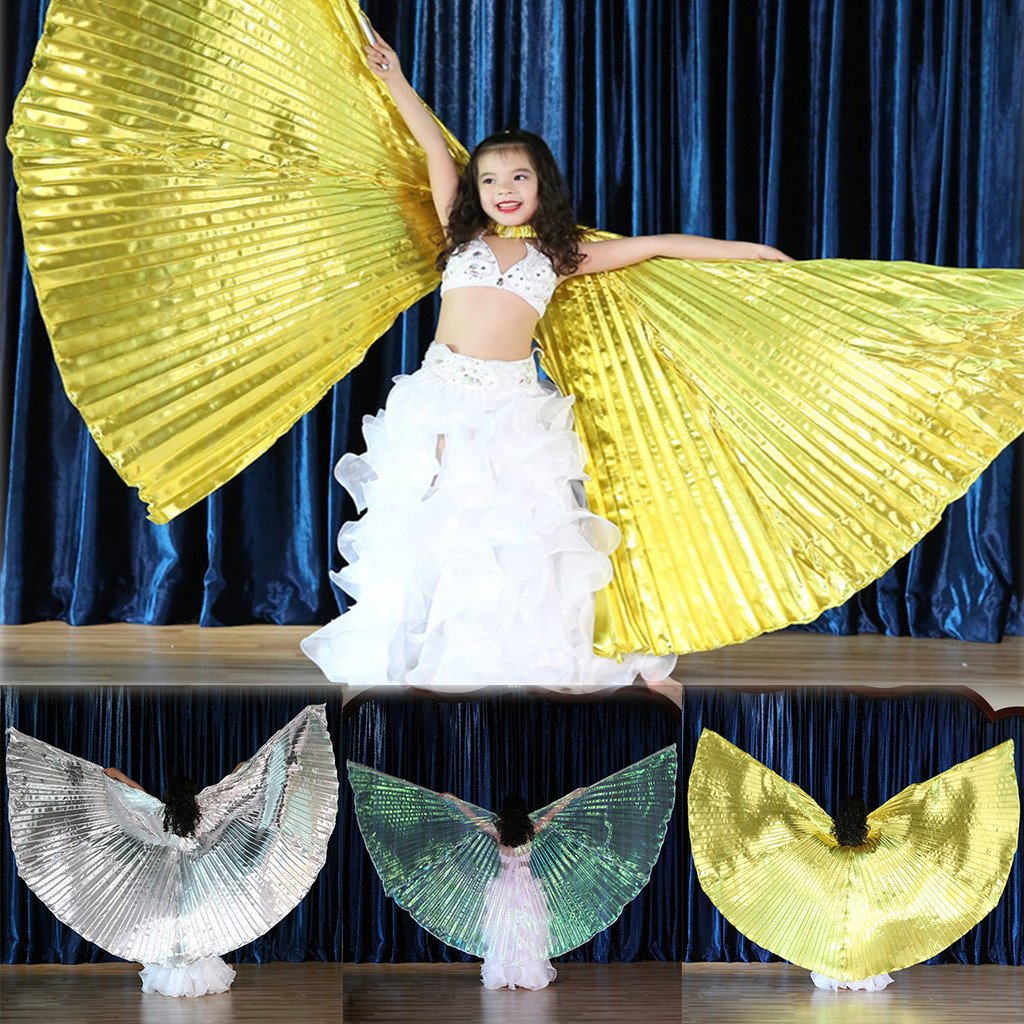 Belly Dance Wings with Sticks for Children Belly Dance Costume Angel Wings USA