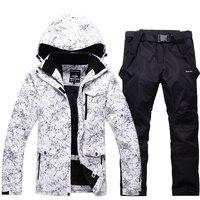Мужская одежда для катания на лыжах, непромокаемая ветрозащитная одежда для катания на лыжах, теплая верхняя одежда для мужчин, лыжные курт